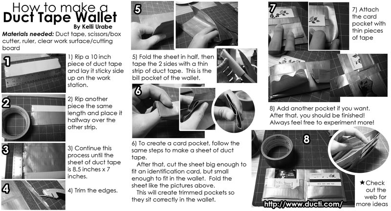Lets Learn How To Make A Duct Tape Wallet Sons Of The Internet